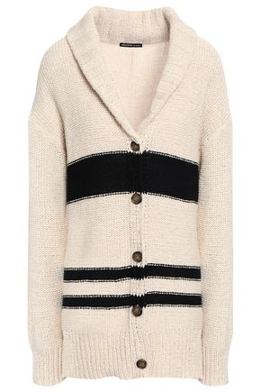 JAMES PERSE Intarsia cotton-blend cardigan