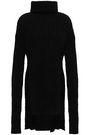 BALMAIN Ribbed mohair-blend turtleneck sweater