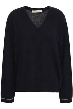 VANESSA BRUNO | Vanessa Bruno Metallic-Trimmed Wool And Cashmere-Blend Sweater | Goxip