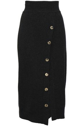 GOEN.J Button-embellished wool midi pencil skirt