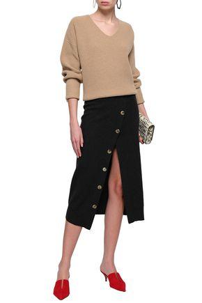 GOEN.J Button-embellished wool midi pencil skirt