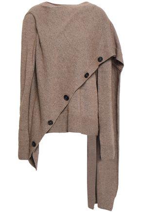 GOEN.J Draped mélange wool-blend sweater