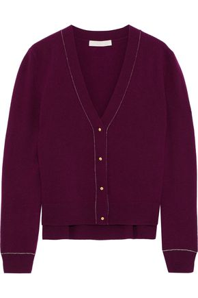 VANESSA BRUNO Chain-trimmed wool and cashmere-blend cardigan