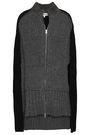 McQ Alexander McQueen Cape-effect ribbed wool and cashmere-blend cardigan