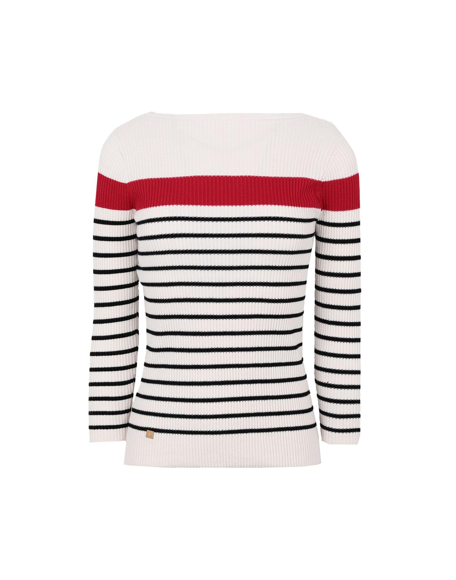 Cotton blend boatneck sweater pullover lauren...