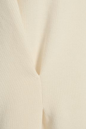 CHALAYAN Grosgrain-trimmed cotton sweater