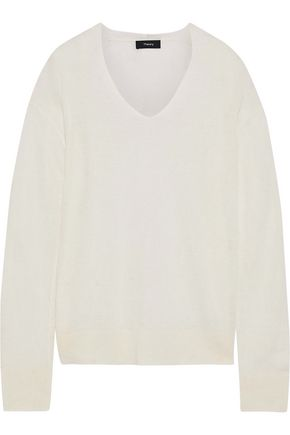 THEORY New Harbor linen-blend top