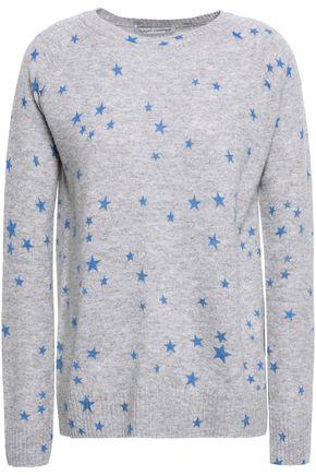 AUTUMN CASHMERE Mélange printed cashmere sweater