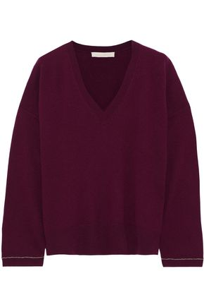 VANESSA BRUNO Chain-trimmed wool and cashmere-blend sweater