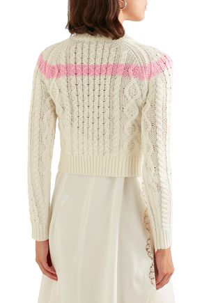 PREEN LINE Striped cable-knit sweater