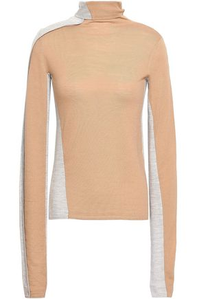 JOSEPH Two-tone merino wool turtleneck sweater