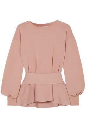 AGNONA Belted wool peplum sweater