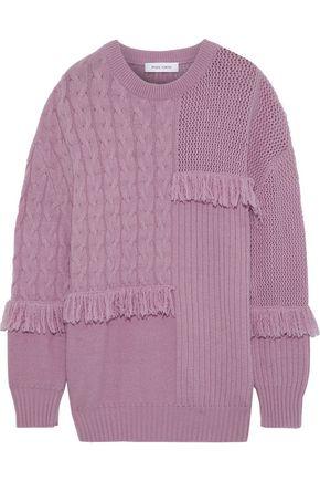 PRABAL GURUNG フリンジ付き カシミヤ セーター