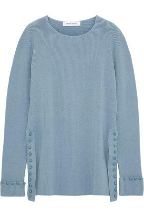 PRABAL GURUNG Button-embellished ribbed cashmere sweater