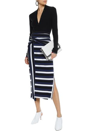 PROENZA SCHOULER Ribbed silk-blend cardigan