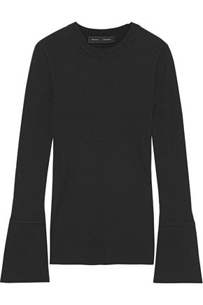 PROENZA SCHOULER Fluted ribbed silk-blend top