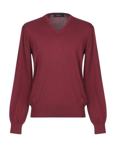 Купить Мужской свитер BLUE LES COPAINS красно-коричневого цвета