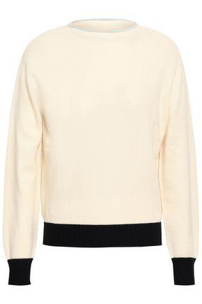 GIORGIO ARMANI Rib-trimmed two-tone cashmere sweater