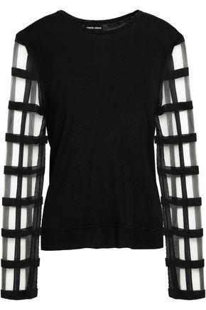GIORGIO ARMANI Cutout knitted top