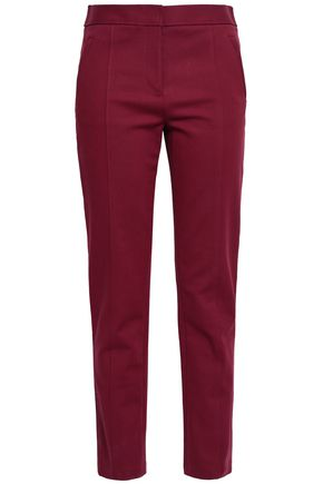 TORY BURCH Stretch-cotton slim-leg pants
