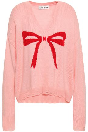 WILDFOX Intarsia-knit sweater
