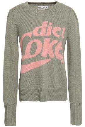 WILDFOX Intarsia-knit sweater