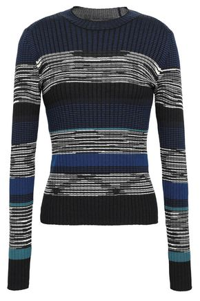 PROENZA SCHOULER Intarsia wool, silk and cashmere-blend sweater
