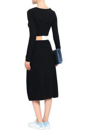 JOSEPH Wool-blend midi dress