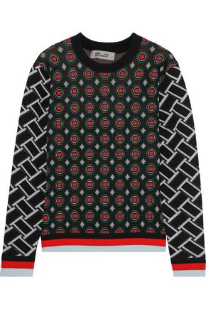 DIANE VON FURSTENBERG Hari metallic intarsia wool-blend sweater