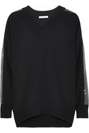 CHRISTOPHER KANE Oversized crystal-embellished wool sweater