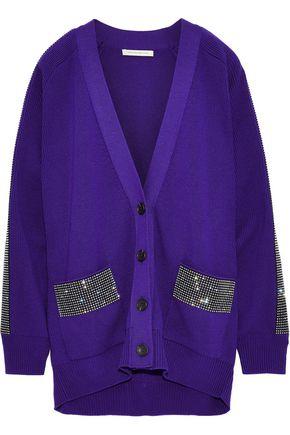 CHRISTOPHER KANE Crystal-embellished wool cardigan