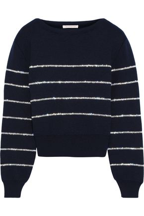 CHRISTOPHER KANE Crystal-embellished wool sweater