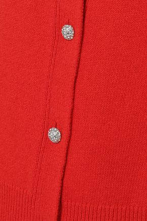 TORY BURCH Embellished wool-blend cardigan