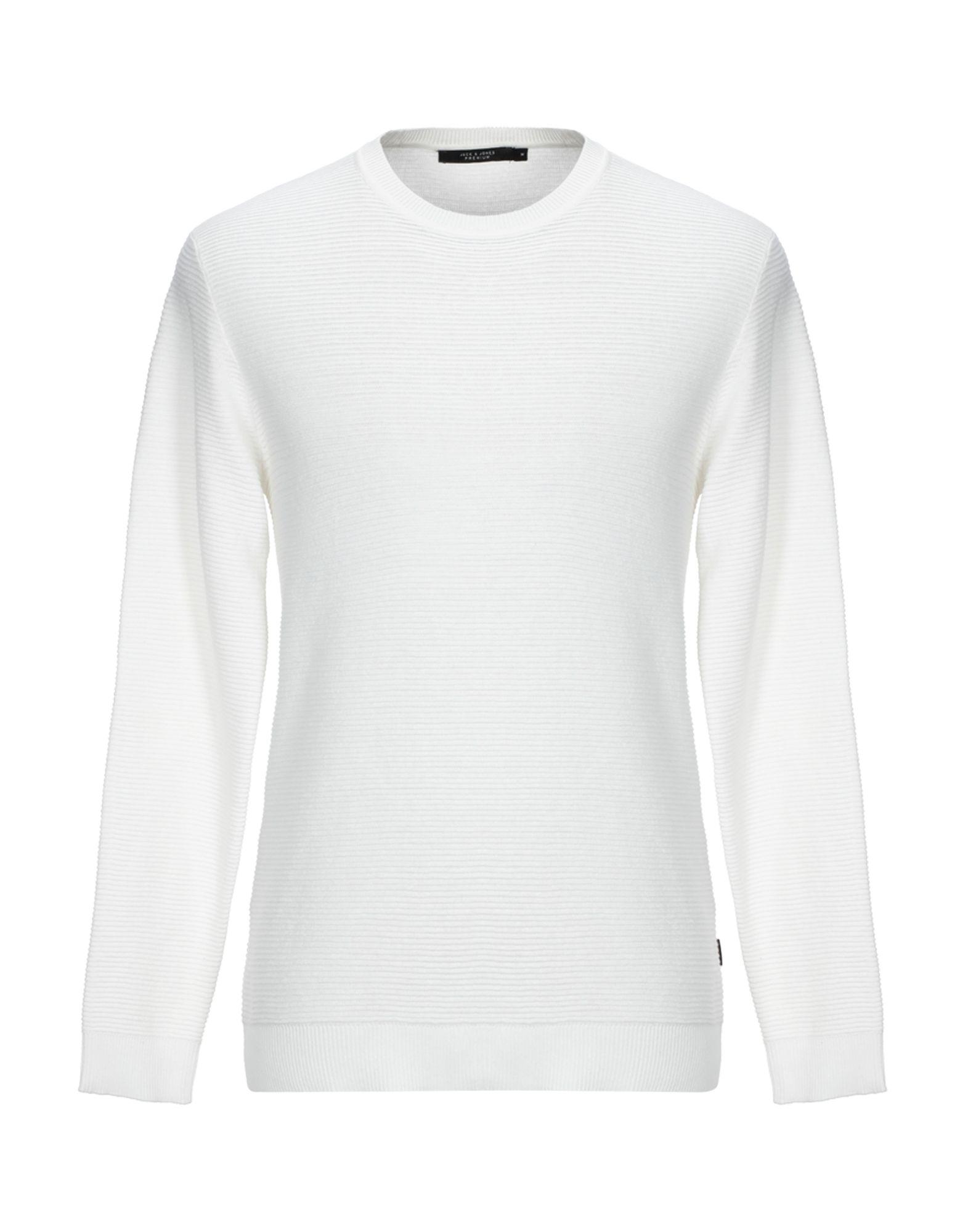 《期間限定セール開催中!》JACK & JONES PREMIUM メンズ プルオーバー ホワイト XL コットン 100%