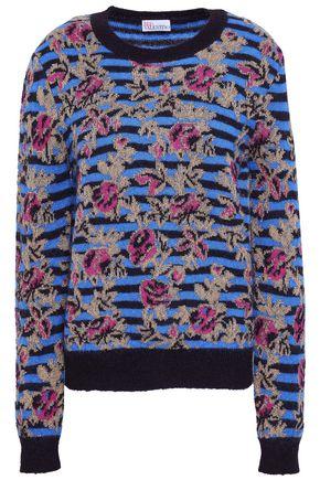 REDValentino メタリック ジャカードニット セーター