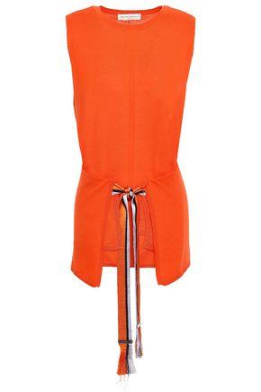 AMANDA WAKELEY Tie-front cashmere top