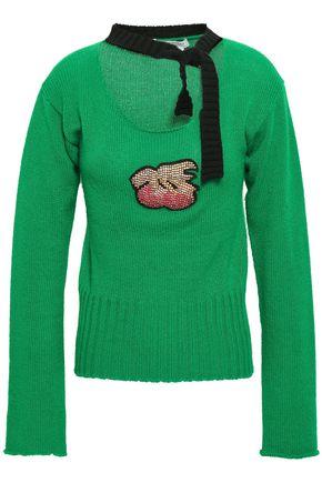 PHILOSOPHY di LORENZO SERAFINI Pussy-bow appliquéd cashmere sweater