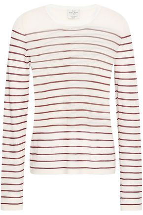 FORTE_FORTE Striped cashmere-blend sweater
