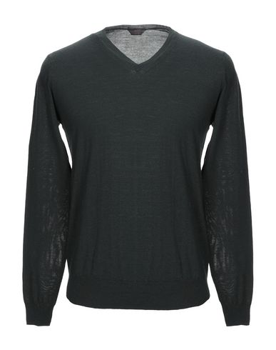 Фото - Мужской свитер  темно-зеленого цвета
