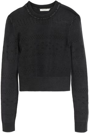 RAG & BONE Pointelle-knit cotton top