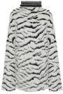 GIVENCHY Oversized zebra-jacquard turtleneck sweater