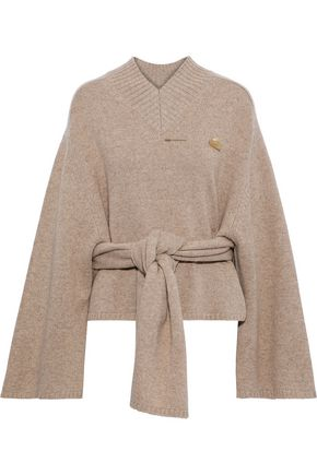JOSEPH Embellished knotted wool sweater