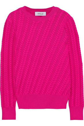 DEREK LAM 10 CROSBY Cable-knit cotton-blend sweater