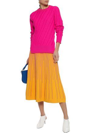 DEREK LAM 10 CROSBY Cable-knit cotton-blend sweater