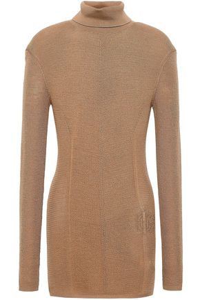 ROBERTO CAVALLI Wool and cashmere-blend turtleneck top