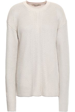 ROBERTO CAVALLI Cutout ribbed wool-blend sweater
