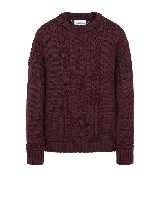 STONE ISLAND 525B4 Sweater Man Dark Burgundy