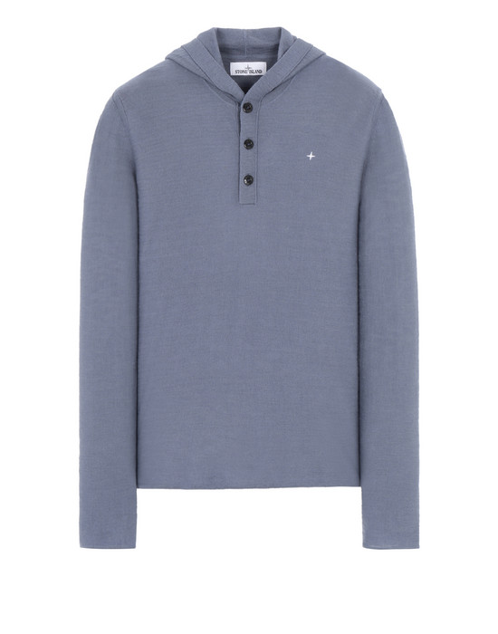 STONE ISLAND 575B9 Sweater Man Avio Blue