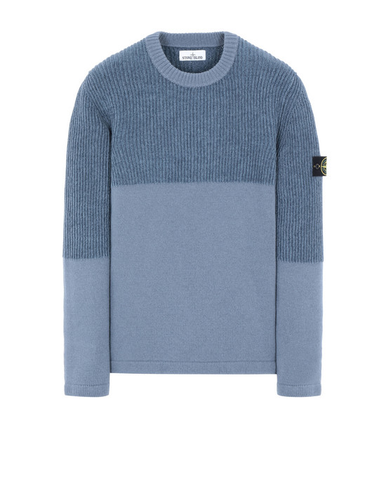 STONE ISLAND 520B8 Sweater Man Avio Blue
