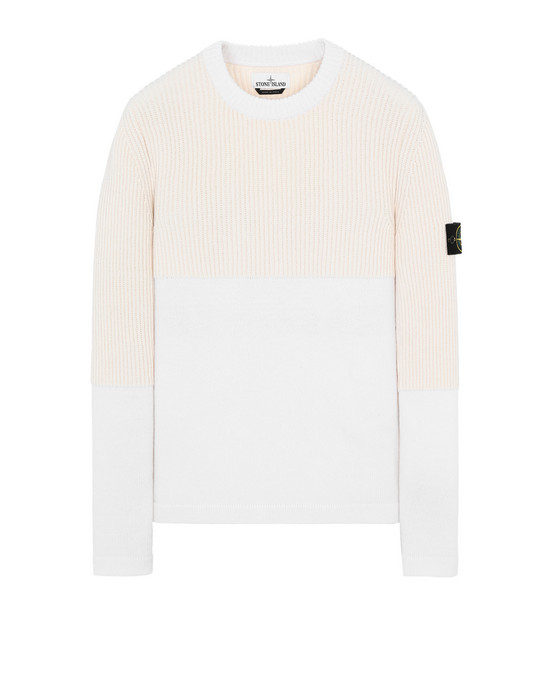 STONE ISLAND 520B8 Sweater Man Ivory